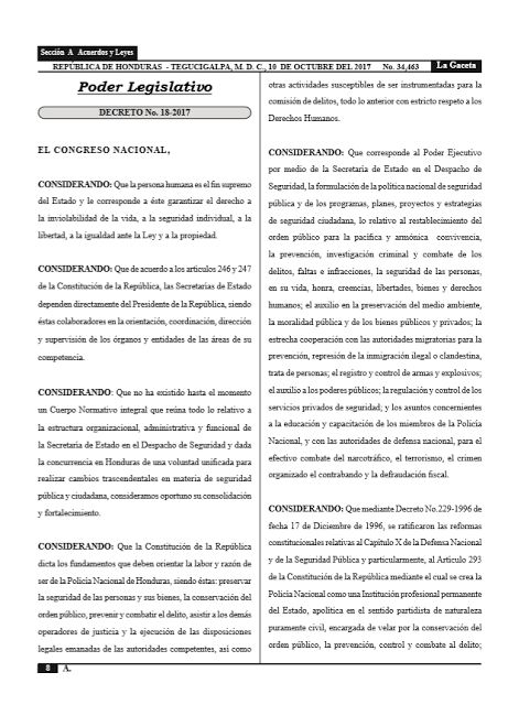 Publicadas En La Gaceta Las Dos Nuevas Leyes Policiales