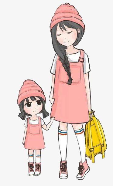 الأم وابنتها Mothers Day Drawings Mother Daughter Dresses Matching Cute Art