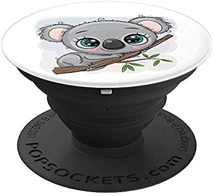 Koala Bear Cute Animal Gift PopSockets PopGrip Swappable Grip for Phones /& Tablets