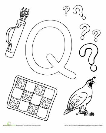 Worksheets: Q Is For...