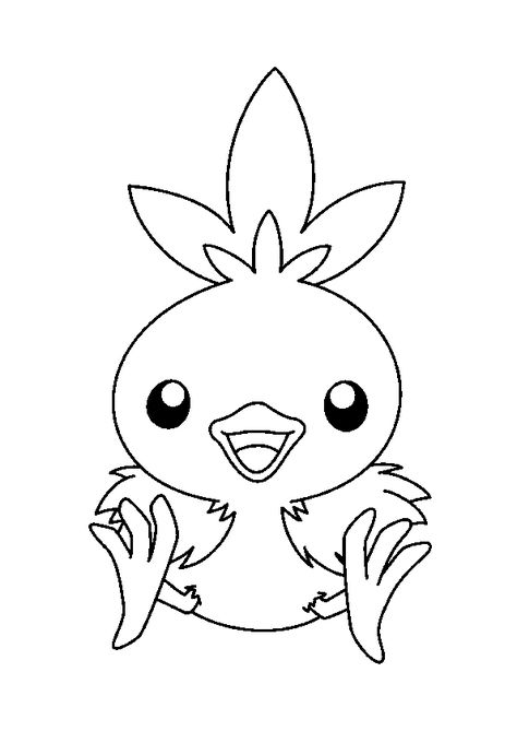 Coloriage Du Mignon Petit Pokemon Poussifeu Coloriage Pokemon