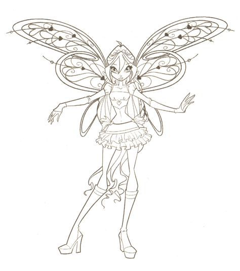 Winx Club Coloring Pages Cartoon Coloring Pages Fairy Coloring
