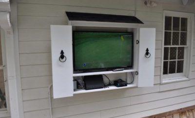 Decks By Design Outdoor Tv Cabinet Outdoor Tv Enclosure Outdoor Tv