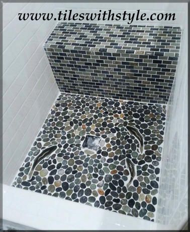 This Unique Shower Floor Ceramic Tile Design Shows The Use Of