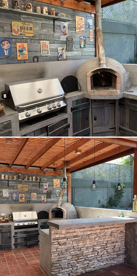 The Leighton's are big fans of Forno Bravo's Pompeii Brick Oven plans. They use their oven for roasting lamb, mussels, salmon, stews, and more! It is a joyful part of their family meals in their outdoor kitchen!