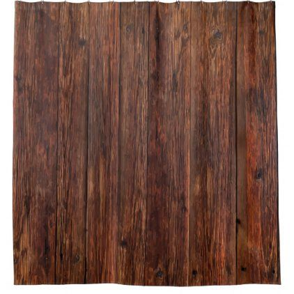 Country Theme Wood Grain Look Shower Curtain Zazzle Com In 2020