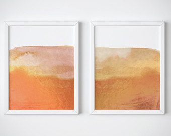 printed and shipped Set of 2 Modern Abstract Art Prints