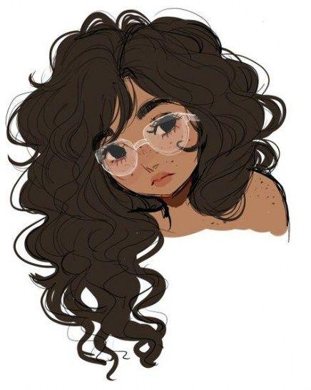 26 Trendy Hair Drawing Female Curly Cartoon Artist Drawings Art Girl