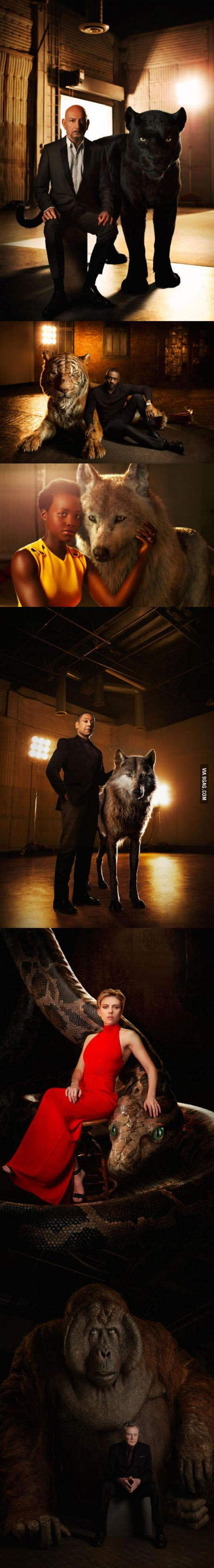 Jungle Book actors with their CG animals