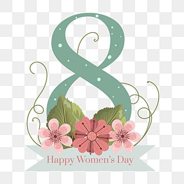 Happy Women S Day With Flowers And Leaves Happy Women S Day Women S Day Womens Day Png And Vector With Transparent Background For Free Download In 2021 Watercolor Flower Background Flower Backgrounds