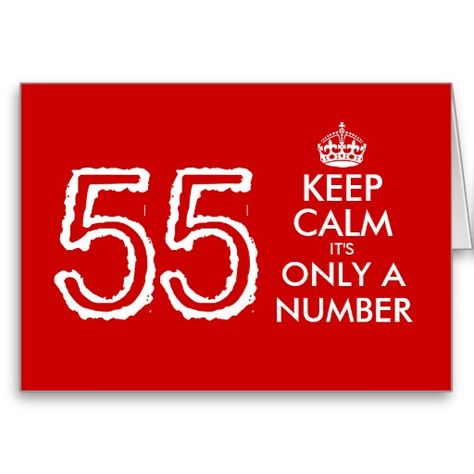 Keep Calm Its Only A Number 55th Birthday Card