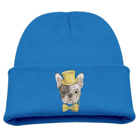 COLLJL8 Unisex Boston Terrier Face Outdoor Fashion Beanies Hat Soft Winter Knit Caps
