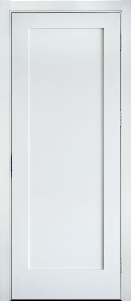 Primed White Solid Core 1 Panel Shaker Mission Style Interior Door In 1011 Ksr Door And Mill Comany Shaker Doors Doors Interior White Paneling