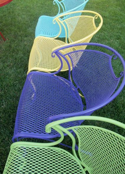 New Yard Furniture Bright Colors Ideas Yard Iron Patio