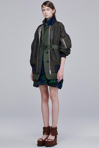 Sacai Resort 2016 Fashion Show Collection: See the complete Sacai Resort 2016 collection. Look 11