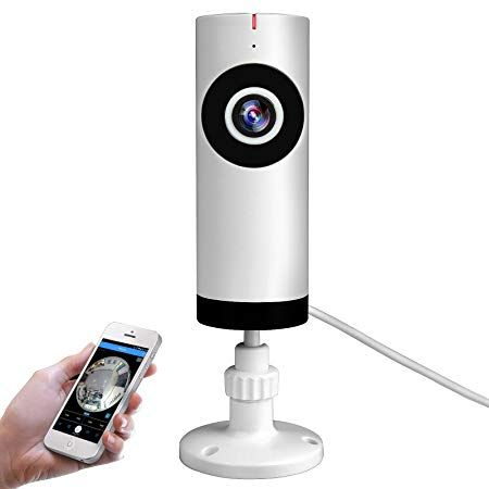 Mini Wireless Ip Security Camera With Speaker By Phone 720p Wifi Surveillance System For Home Baby Elder Pet Nanny Monitor Night Vision Cameras White Review Home Security Systems Wireless Home Security