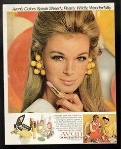 1968 PRINT AD AVON COSMETICS SHEERLY WILDLY WONDERFUL