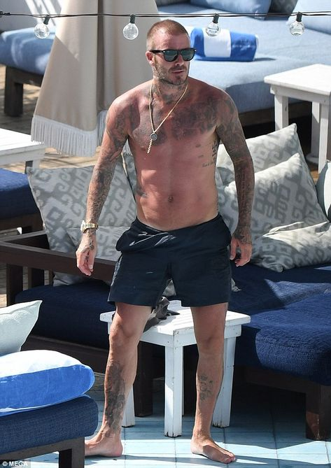 Shirtless David Beckham seen chatting to mystery brunette in Miami is part of David beckham shirtless David Beckham and wife Victoria were apart again on Wednesday, as the shirtless soccer star was -