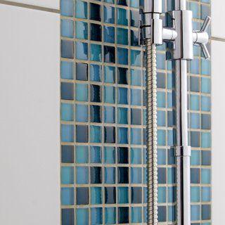 Mosaique Mur Glass Mix Bleu Atoll N 5 2 3 X 2 3 Cm Petites Salles De Bains Modernes Mosaique Galets