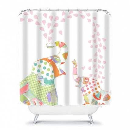 20 Ideas For Bath Room Yellow Pink Shower Curtains Bath