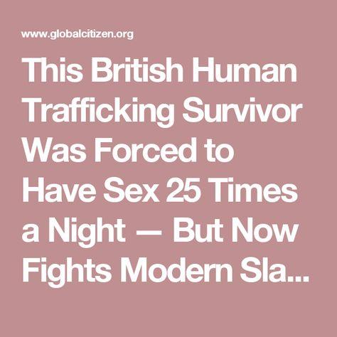 Sex slaves human traffic rimming