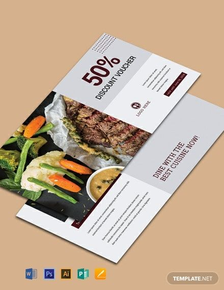 Instantly Download Free Dinner Discount Voucher Template Sample Example In Microsoft Word Doc Adobe Photoshop Psd