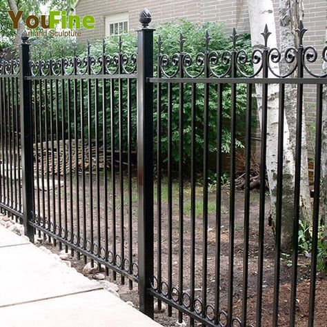 Source 2018 popular decorative wrought iron fence for garden on m.alibaba.com