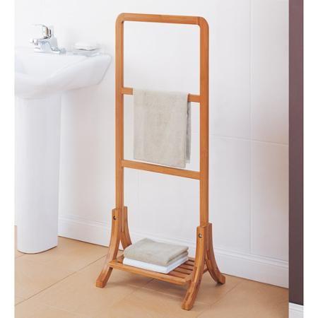 Neu Home Lohas Collection Towel Rack, Carbonized Bamboo