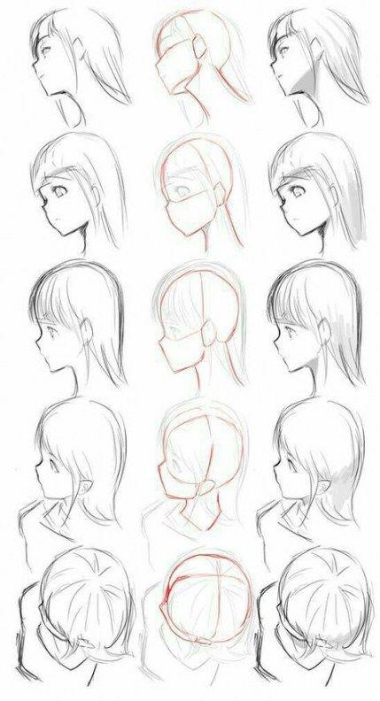 50 Trendy How To Draw Manga Head Positions Anime Drawings Tutorials Drawing Tutorial How To Draw Hair