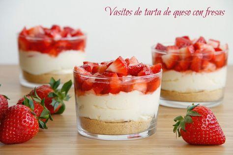 Vasitos de tarta de queso con fresas   MisThermorecetas   Bloglovin'