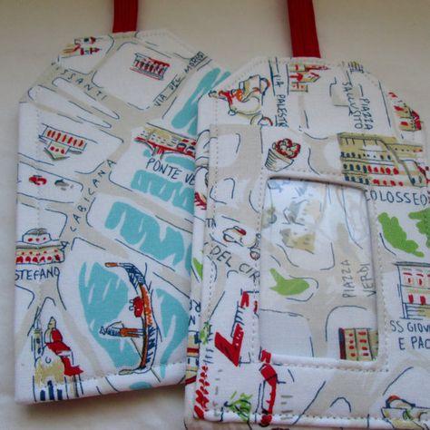 e11d07eda94ab Italy Map Fabric Custom Luggage Tags Rome Destination Wedding Favor Travel  Accessory Gift Card Holde