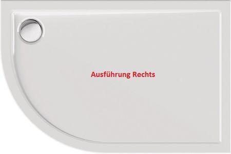 Duschtasse Rund Superflach 120 X 80 X 2 5 Cm R55 Acryl Weiss