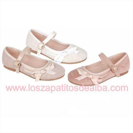 Zapatos Niña Blanco Ceremonias Modelo Cloe Baratos   Zapatos