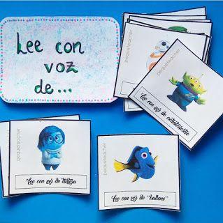 Lectura divertida con tarjetas descargables disney de Lee con voz de...