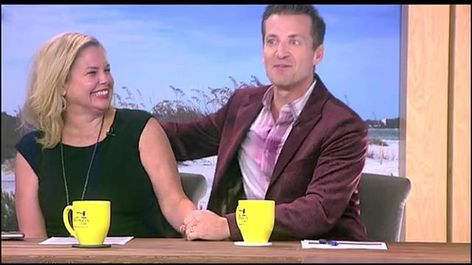 That time when @tracyfreeman__ and I pretended we were on a date on our new @mysuncoastview set!