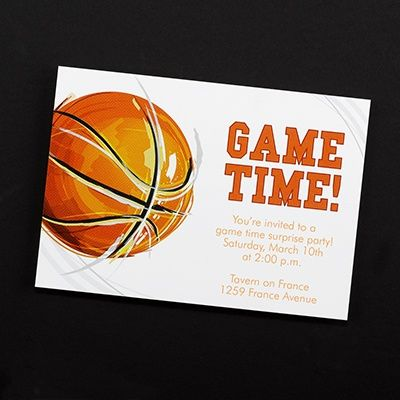 Game Time! #Basketball - #Invitation #Party http://foreverfriends.carlsoncraft.com