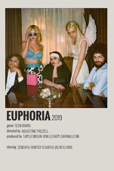euphoria alternative poster minimalist polaroid