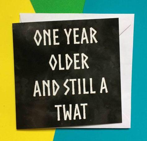 Twat Birthday Card For Men Masculine Lukanna Designs