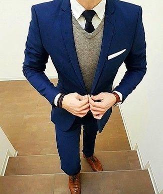 Cómo combinar un traje azul marino en 2017 (374 formas)  89c1f8287a16