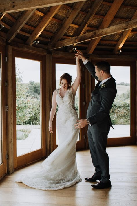 We love seeing the first dance. Such a special moment between the two of you. (photo: @mimosa_photo) #firstdance #weddingdance #microweddings #intimateweddings #devonwedding #devonweddings #vineyardwedding #devonvineyard #barnwedding
