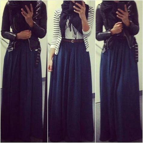 What goes with a dark blue skirt