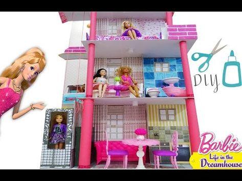 Barbie Doll House Diy How To Make A Barbie Malibu Dream House