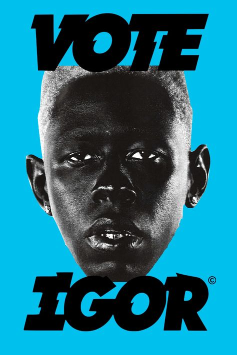 Tyler The Creator Igor Vote Poster Print Wall Art, Bedroom Wall Collage, Photo Wall Collage, Picture Wall, Poster S, Poster Wall, Poster Prints, Poster Doctor Who, Rose Tyler Outfit, Tyler The Creator Wallpaper