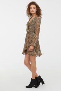 super barato se compara con baratas nueva lanzamiento Vestido cruzado | Marrón/Estampado de leopardo | MUJER | H&M ...