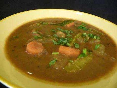 How to make Sambar (Sambhar), a South Indian recipe via Show me the Curry.  Printable recipe at http://showmethecurry.com/2008/11/20/how-to-make-sambar-a-south-indian-delight/