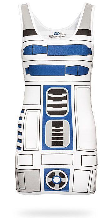 Star Wars I Am R2D2 Costume Tunic Tank Dress