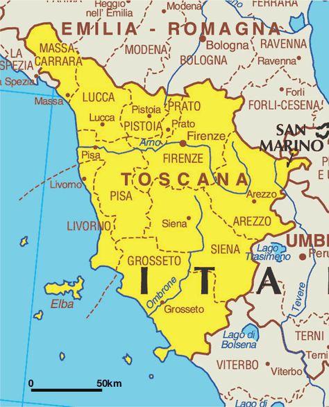 Toscana Italia Toscana Mapa Da Toscana Toscana Italia