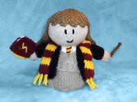 15 cms Harry Potter toy Hermione inspired choc orange cover KNITTING PATTERN