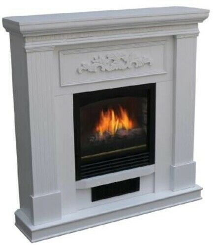 Bold Flame 38 Inch Wall Corner Electric Fireplace Heater In White Boldflame Co Hinh ảnh