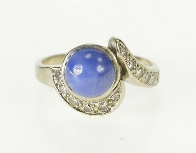 Ad Ebay Link 10k Retro Ornate Syn Blue Star Sapphire Diamond Ring Size 4 White Gold 72 Star Sapphire Ring Blue Star Sapphire Ring Sapphire Diamond Ring